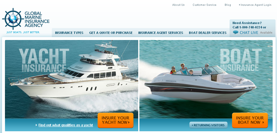 Global Marine Insurance Agency Website