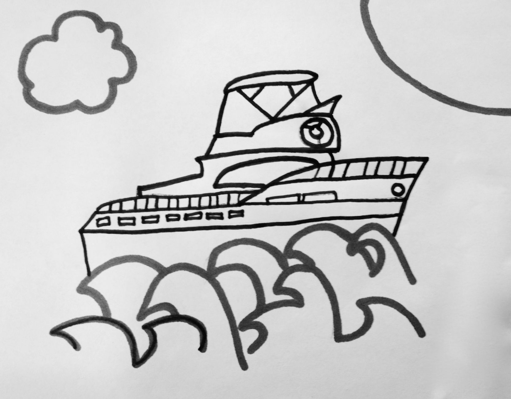 yacht for Dad Coloring Page