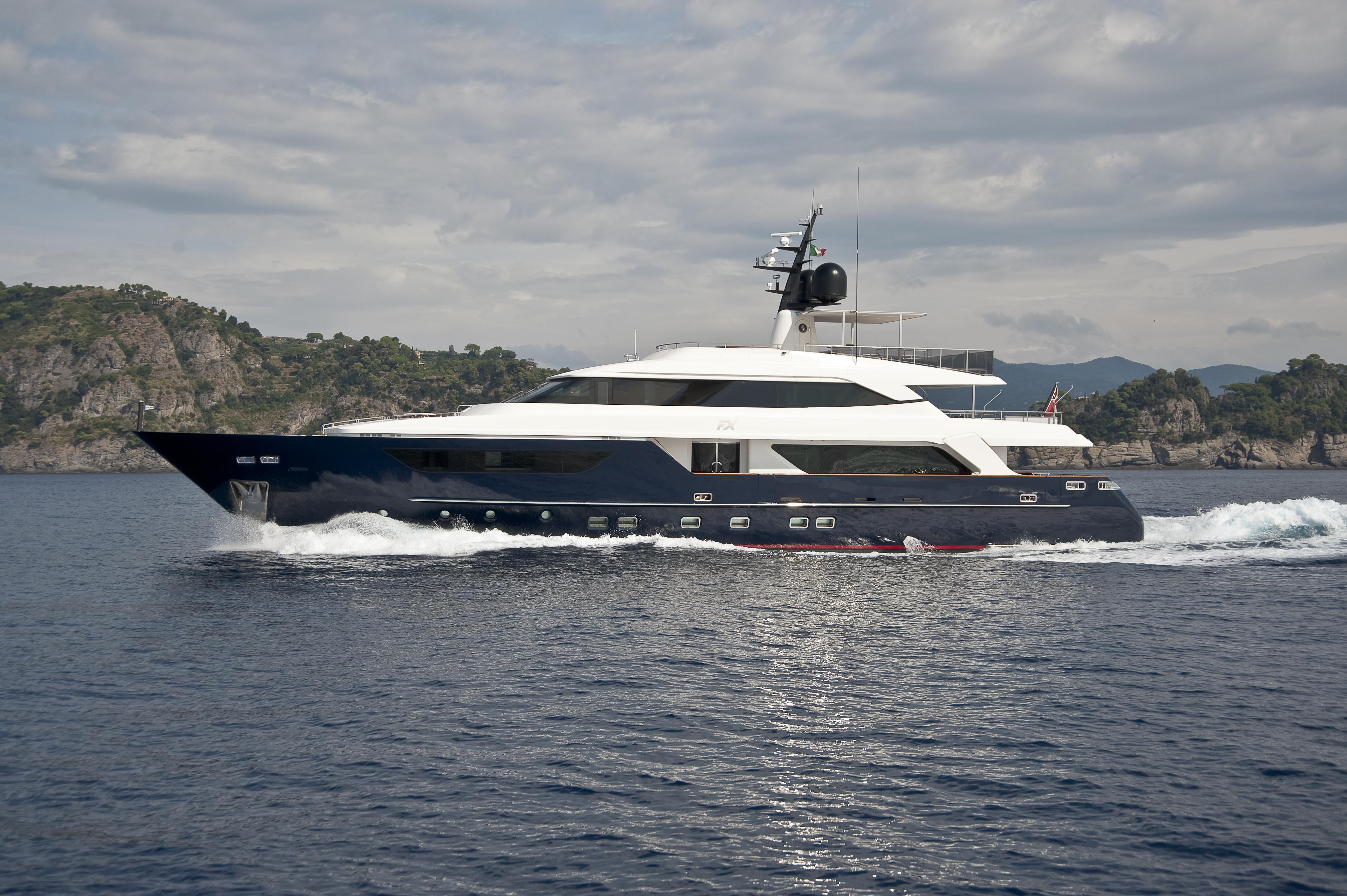 large yacht moving