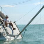 sinking yacht