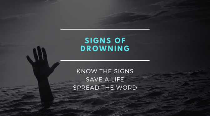 The real signs of drowning hand sticking out of water